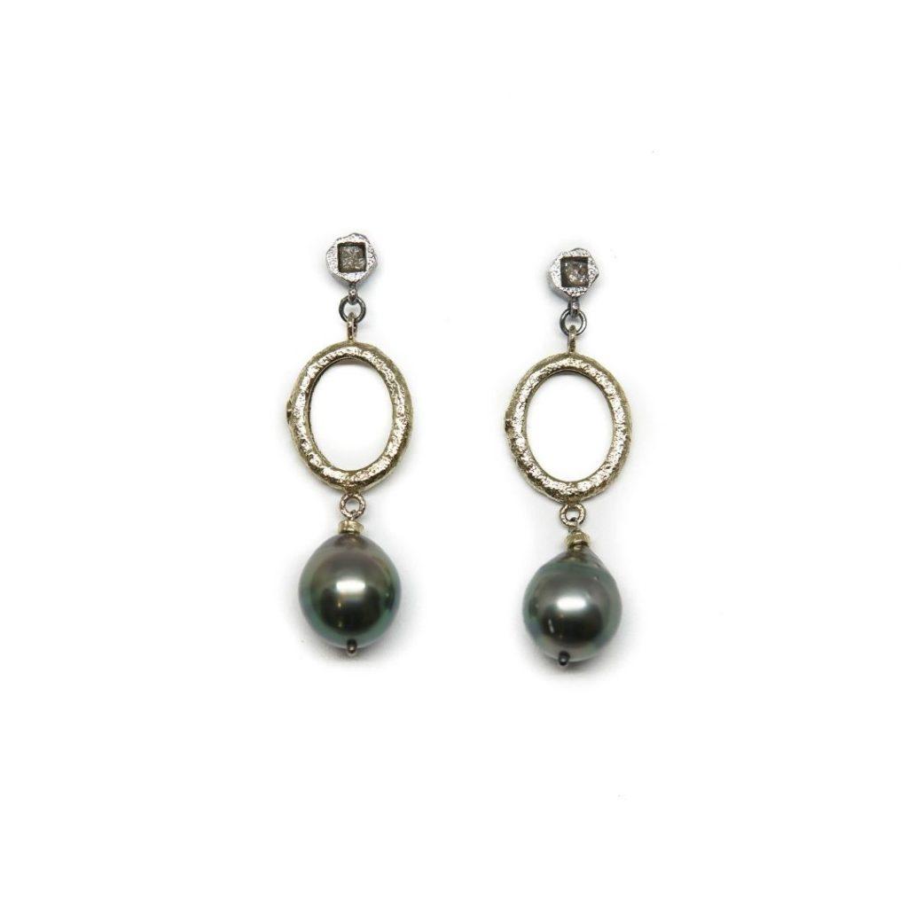 Drop Tahitian Pearl Earrings