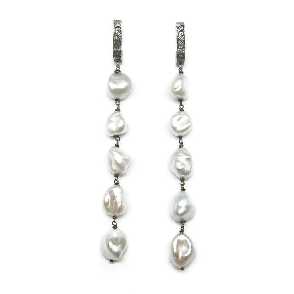 Drop Natural Pearl Earrings