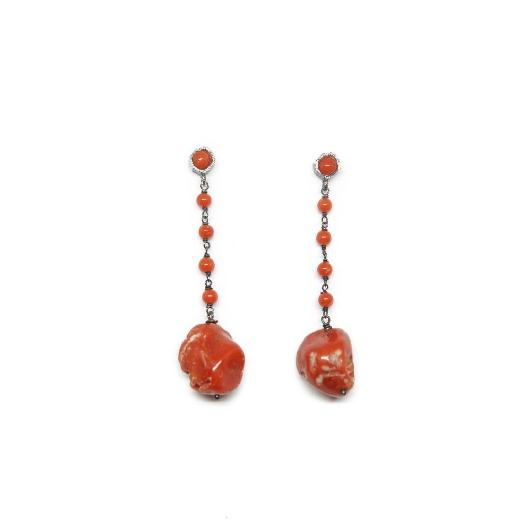 Drop Coral Earrings