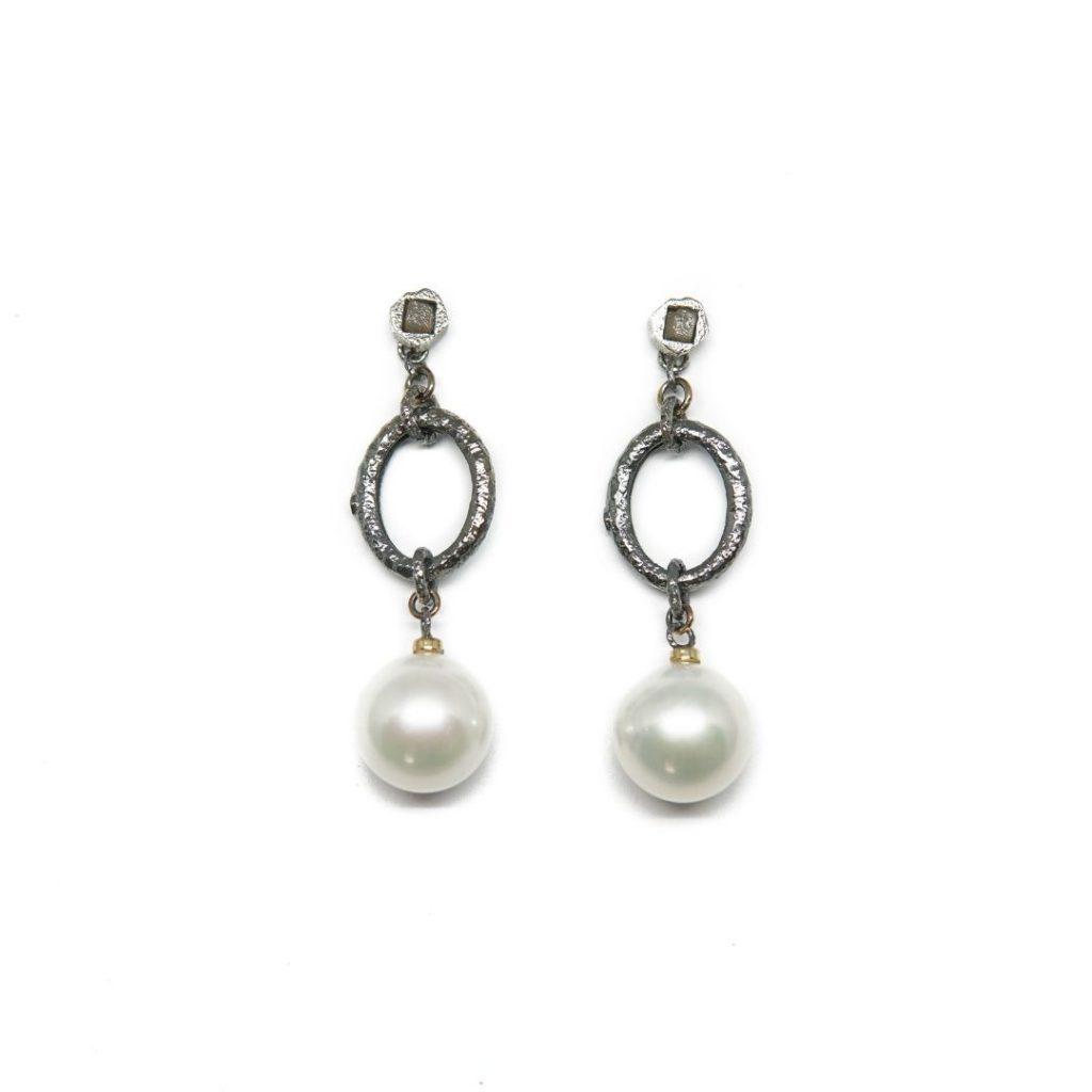 Drop Cultured Pearl Earrings